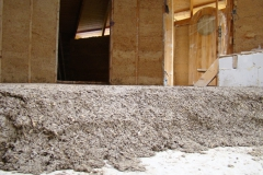 2017-09-04, Floor insulation, hempcrete with sand and trass