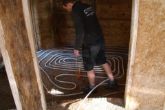 2017-10-27, Placement of the underfloor heating